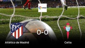 Un punto para cada uno en el Atlético de Madrid-Celta (0-0)