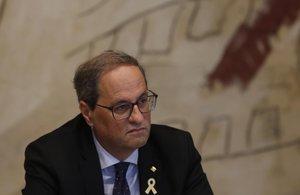 Quim Torra, en la reunión del Consell Executiu en la Generalitat.