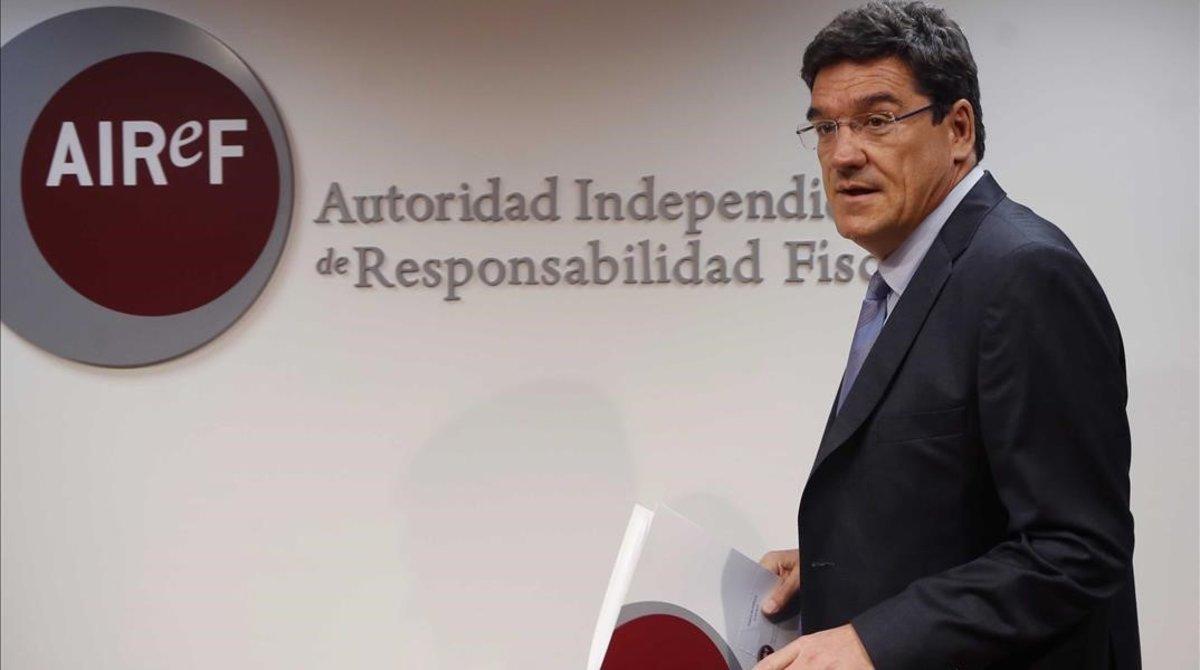 El presidente de la autoridad fiscal independiente AIREF, José Luis Escrivá, en una imagen de archivo.