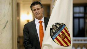 Kempes, en un acto del Centenerio del Valencia del pasado marzo.