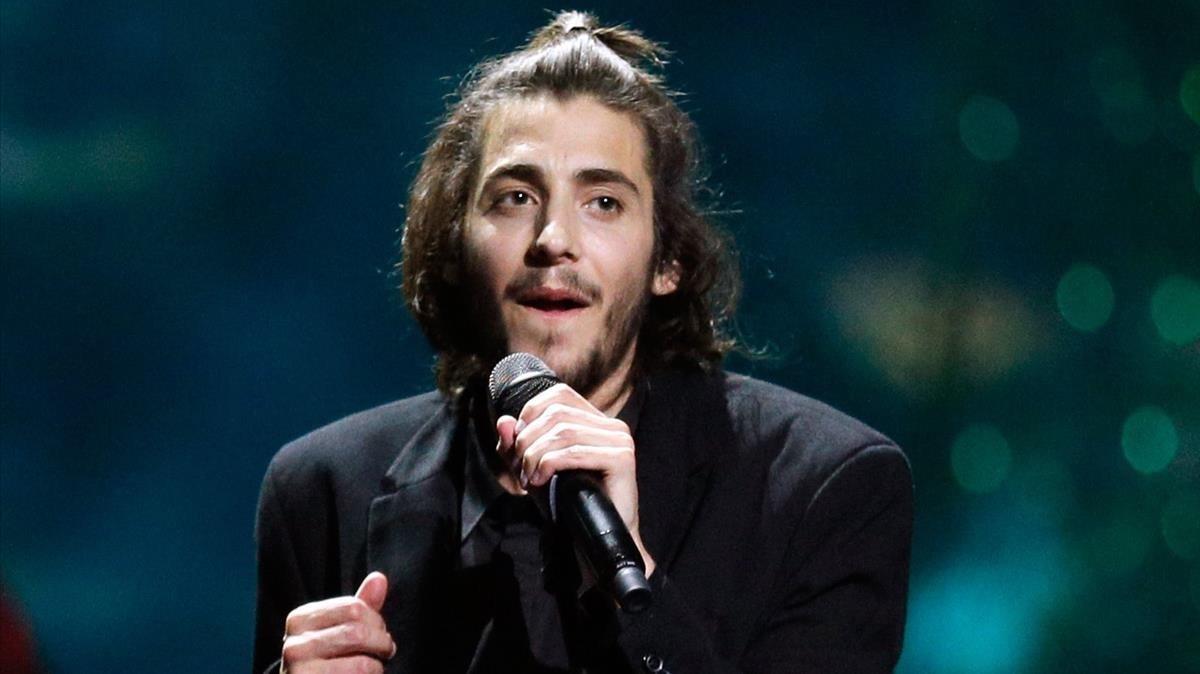 Salvador Sobral en una imagen de archivo, durante su actuación en Eurovisión.