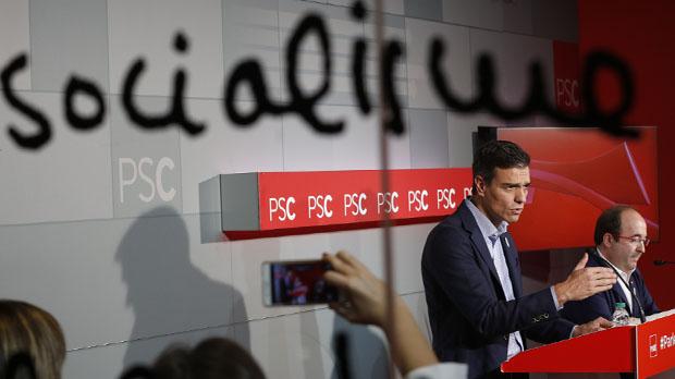 El secretario general del PSOE, Pedro Sánchez, ha asistido esta mañana en Barcelona a una reunión de la ejecutiva del PSC.