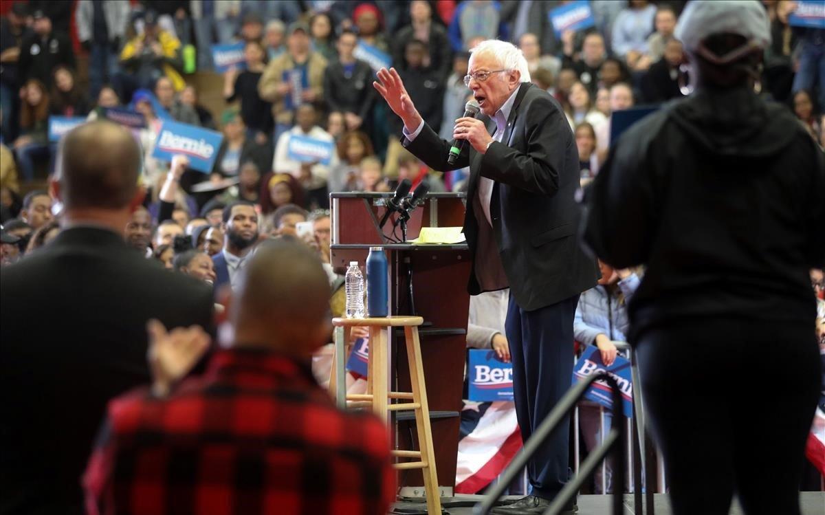 Sanders, durante un mitin electoral en Winston-Salem, North Carolina.