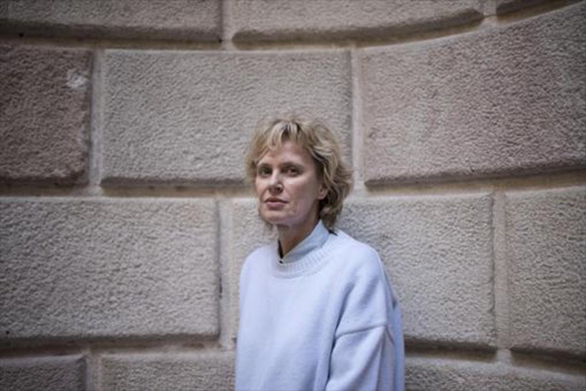 Siri Hustvedt, días atrás, en Barcelona, donde disfrutó de la fiesta de Sant Jordi.