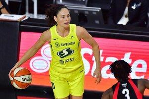 Sue Bird, en acción durante la final de la WNBA femenina