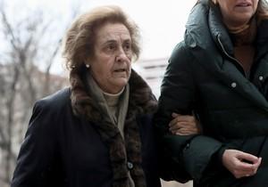 La expresidenta del Rayo Teresa Rivera, llegando a la Audiencia ProvincialdeMadrid.