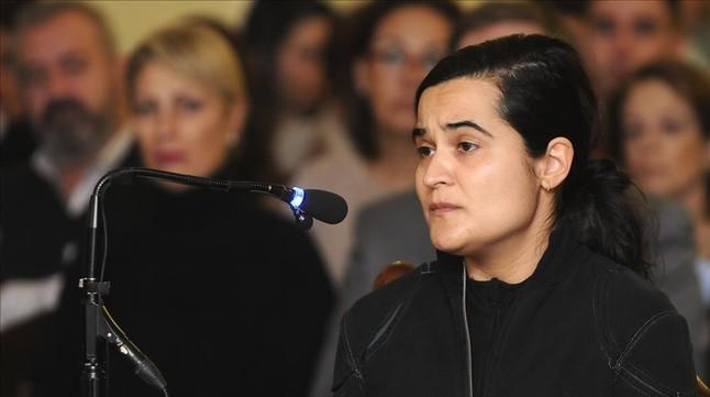 Triana Martínez declara en el juicio por el asesinato de Isabel Carrasco, este miércoles.