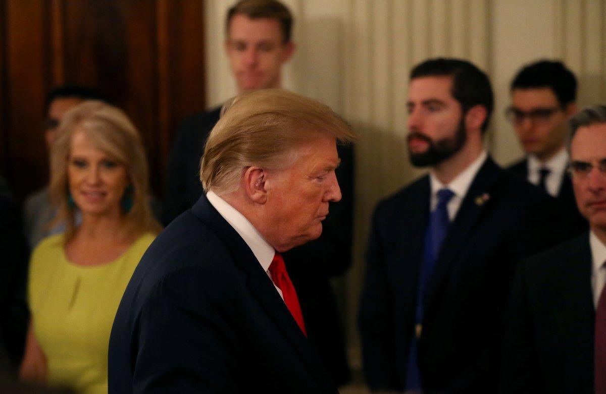 El presidente de los Estados Unidos, Donald Trump en la Casa Blanca.