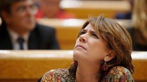Dolores Delgado, el pasado martes en el Senado.