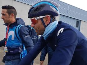 Alejandro Valverde, tras cruzar la meta de Torrefarrera.