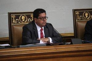 Elvicepresidente del Parlamento,EdgarZambrano,durante una sesion de la Asamblea Nacional.