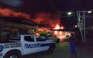 Incendio en instalaciones de compañías de telefonía en Venezuela.
