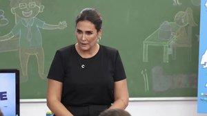 Vicky Martín Berrocal, al borde de suspender el test de cultura de los niños de Telemadrid