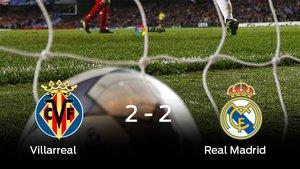 El Villarreal y el Real Madrid empataron a dos