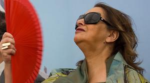 Zaha Hadid, en un acto en Barcelona en el 2009.