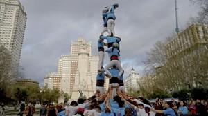 La primera colla castellera de Madrid comença a caminar