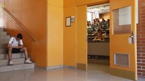 Estudiantes durante el examen de Lengua Castellana en la pasada selectividad.
