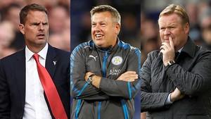 Frank de Boer, Craig Shakespeare y Ronald Koeman, despedidos por el Crystal Palace, Leicester y Everton, respectivamente.