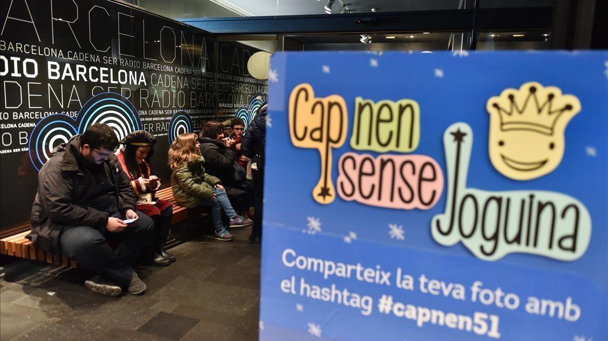 Un momento de la emisión del programa Cap Nen Sense Joguina, en su edición del 2018.