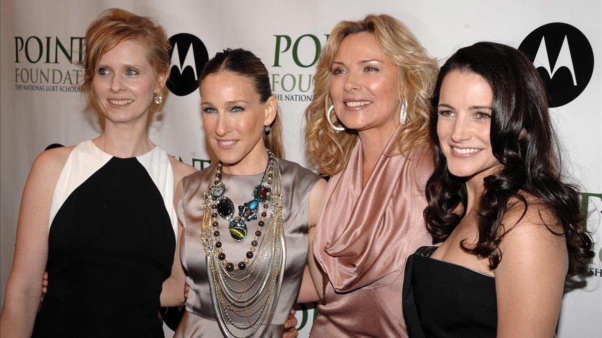Cynthia Nixon, Sarah Jessica Parker, Kim Cattrall y Kristin Davis, en un reciente encuentro.