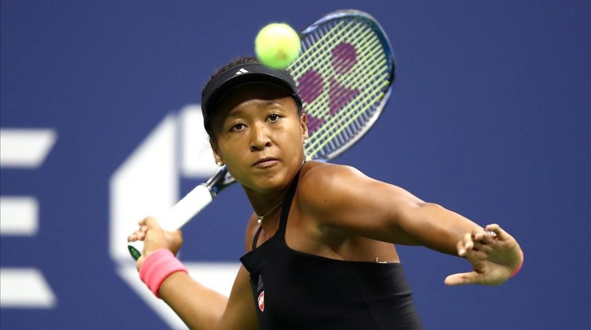 Naomi Osaka, durante el duelo contra Serena Williams en la final del Abierto de EEUU.