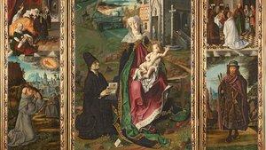 Fragmento del 'Tríptico de la Virgen de Montserrat',de Bartolomé Bermejo.