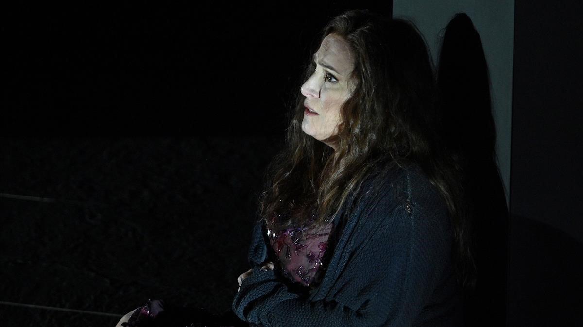 La soprano Patricia Racette, durante la representación de Katia Kabanova, el jueves en el Liceu.