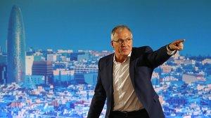 Josep Bou durante su presentación como alcaldable en Barcelona, el pasado domingo.