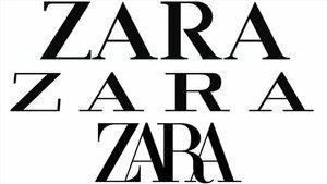 Evolución de la tipografia y estilo en el logo de Zara. La nueva presenta las letras entrelazadas.