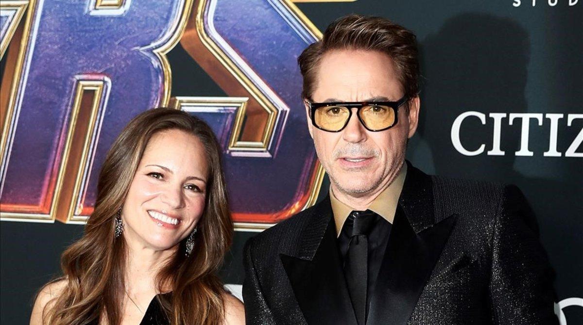 Robert Downey Jr y su esposa, Susan.