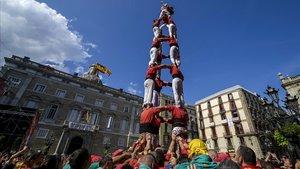Los Castellers de Barcelona en una imagen de archivo.