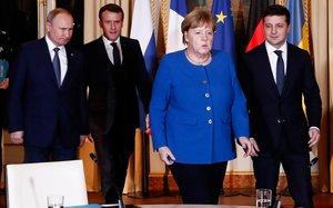 Primer cara a cara entre Putin i Zelenski per intentar posar fi a la guerra del Donbass