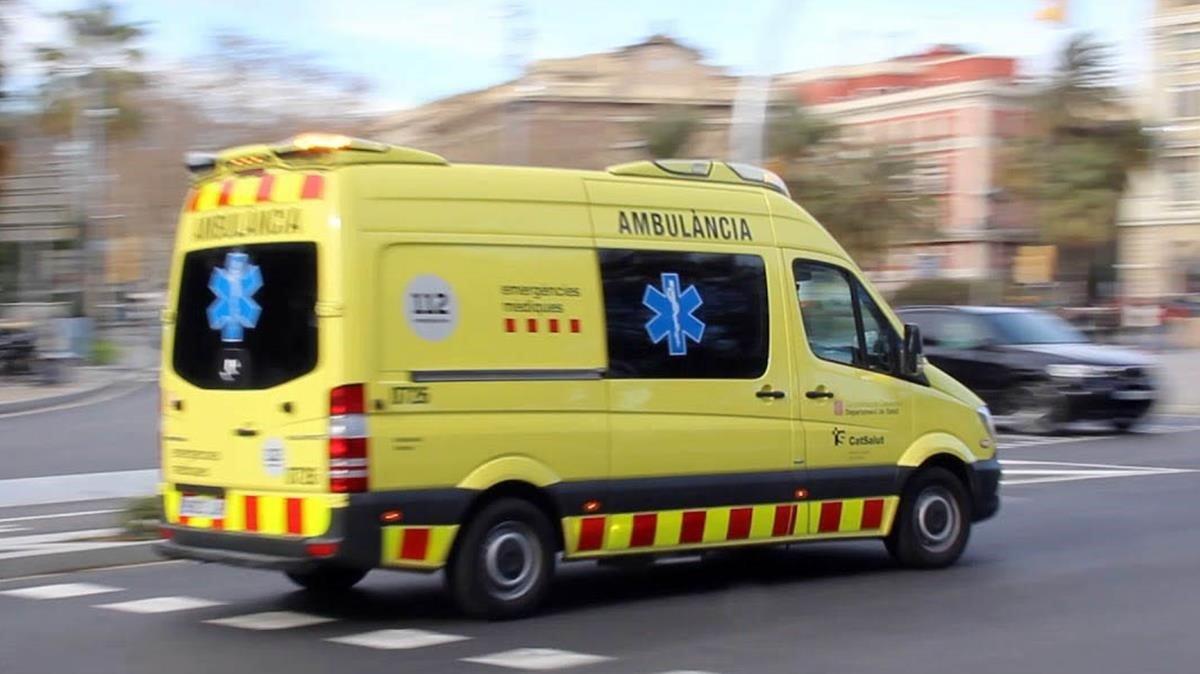 Una ambulancia en Barcelona.
