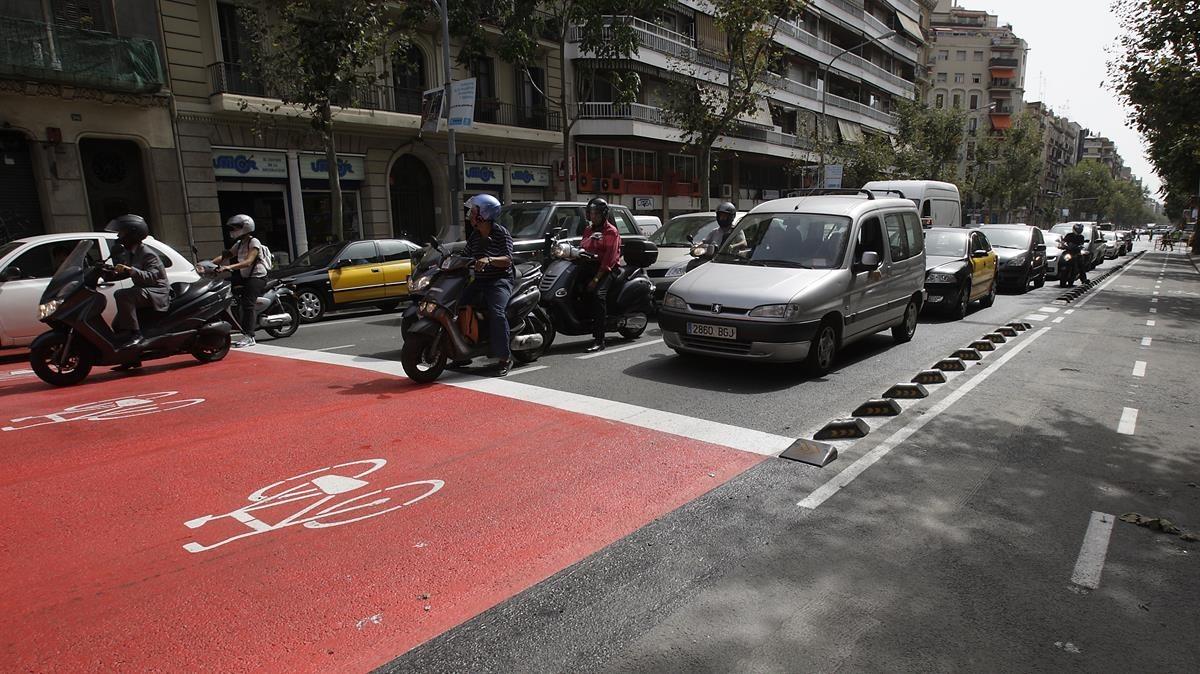 La zona avanzada de bicis, recién inaugurada en septiembre del 2008.