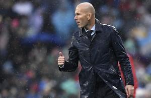 Zinedine Zidane, durante el partido contra el Villarreal