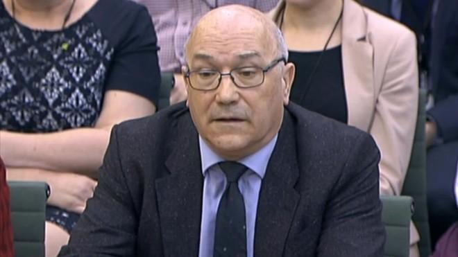 Mark Goldring, en su comparecencia ante la Cámara de los Comunes