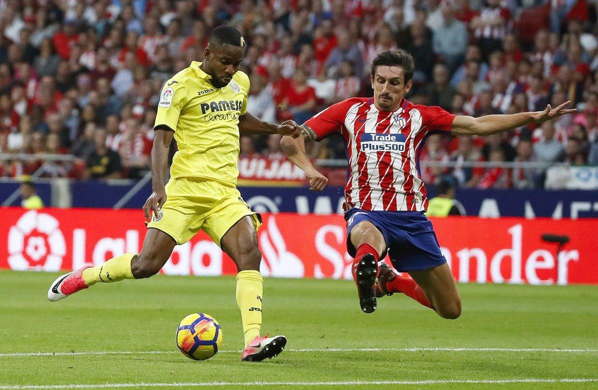 Partido entre el Villarreal y el Atlético en 2017.
