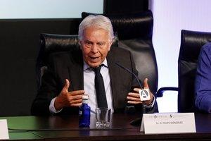 El expresidente del Gobierno Felipe González,en el XII Foro Atlántico este lunes en laCasa América.