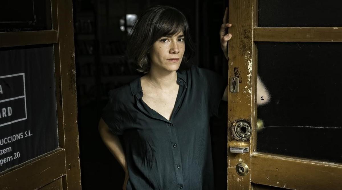 La actriz Bruna Cusí, que actúa en Estiu 1993, fotografiada este viernes en la sala de ensayo de la Flyhard, en Sants.