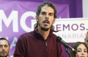 Alberto Rodríguez, el sustituto dePablo Echenique en la Secretaría de Organización de Podemos.