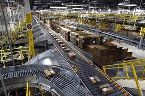 Instalaciones de Amazon en la ciudad de Baltimore.