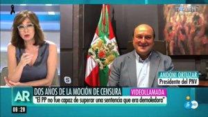 """Ortuzar (PNV) advierte a Ana Rosa: """"Antes de empadronarse hay que mirar la Declaración de la Renta"""""""
