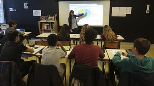 Taller de educación financiera en una escuela de secundariaEscola Sant Medir