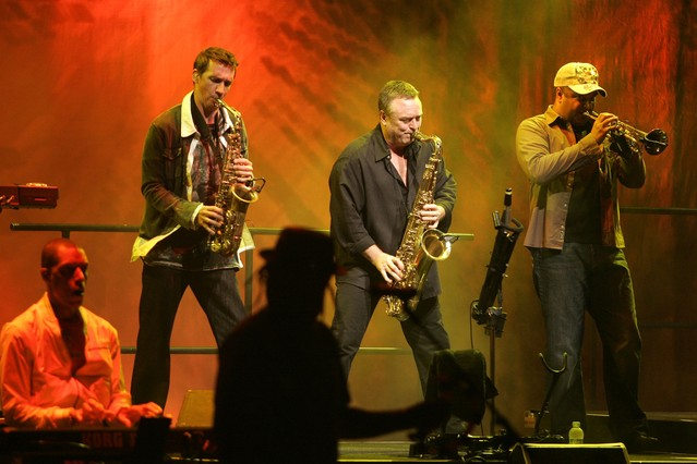 La banda británica UB40 en una actuación en el 2009 en Calella de Palafrugell.