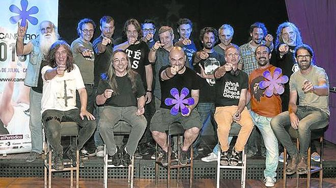 El supergrupo del rock català prepara en Salt la actuación que ofrecerá en julio en un Canet Rock irrepetible.