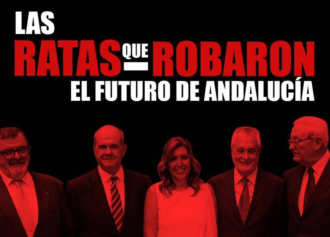Campaña de Nuevas Generaciones del PP contra el PSOE andaluz.