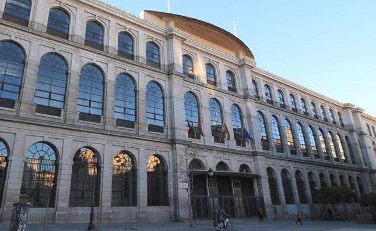 La fachada del Real Conservatorio Superior de Música de Madrid.