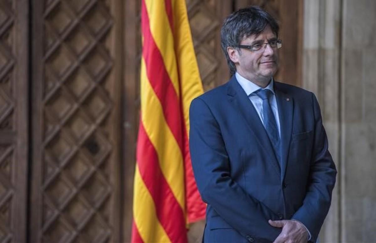 Carles Puigdemont, en el Palau de la Generalitat, el pasado 13 de marzo.