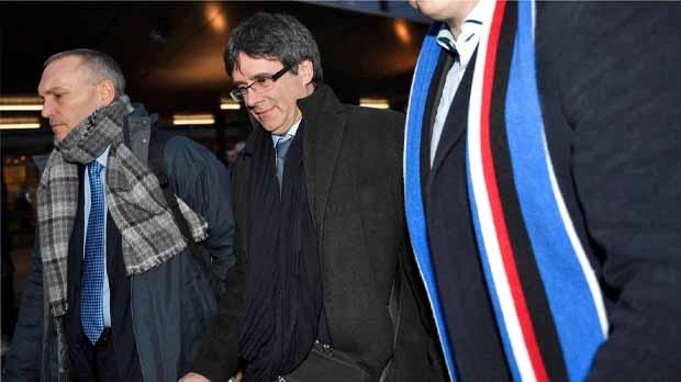Carles Puigdemont a su llegada a Copenhague.