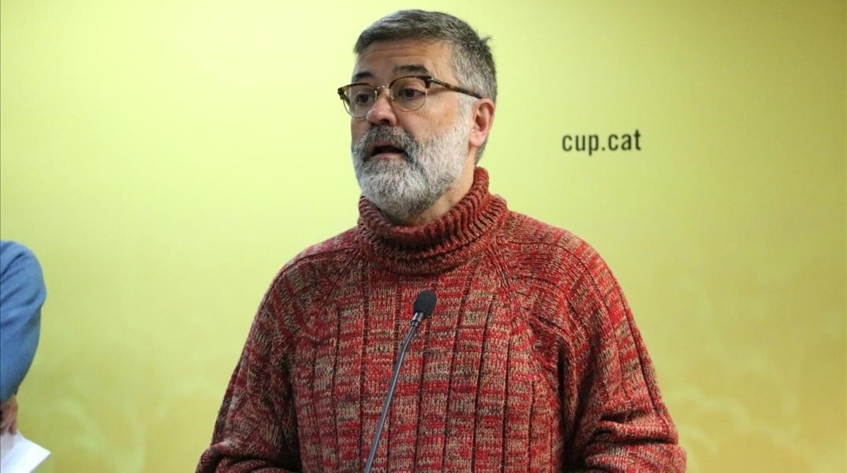Carles Riera, diputado de la CUP.
